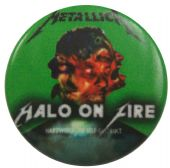 Metallica - 'Halo on Fire' Button Badge